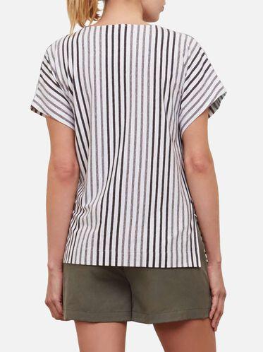 Striped Dolman Tee, MINIMALIST S