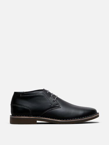 Desert Sun Leather Chukka Boot, BLACK