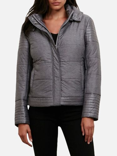 Puffer Jacket With Removable Hood, HTHR PRNT, hi-res