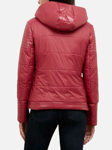 Puffer Jacket With Removable Hood, CRANBERRY, hi-res