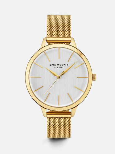 Gold-Tone Round Watch, NO COLOR