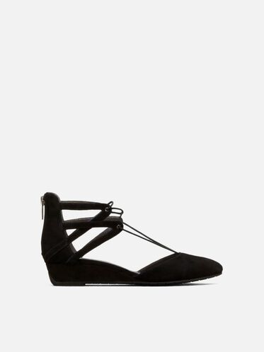Why Not Suede Wedge, BLACK, hi-res