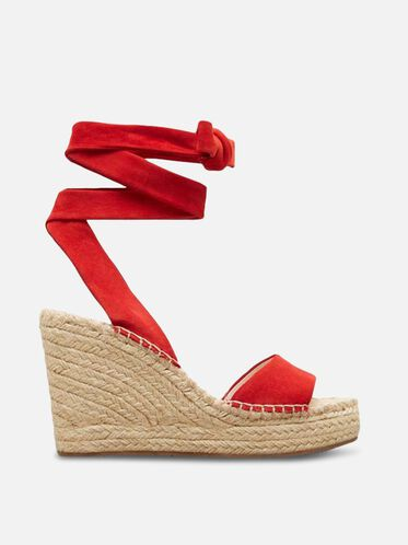 Odile Espadrille Wedge, RED