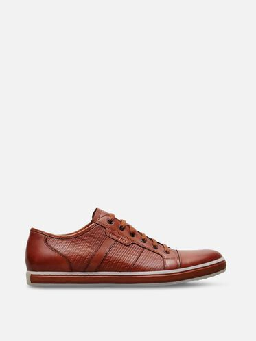 Brand Wagon Leather Sneaker, COGNAC