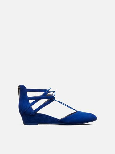 Why Not Suede Wedge, COBALT