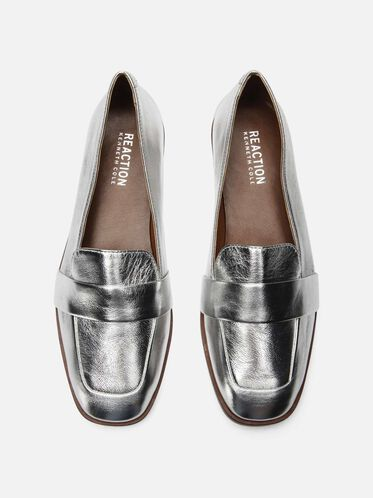 Glide Slide Metallic Loafer, SILVER
