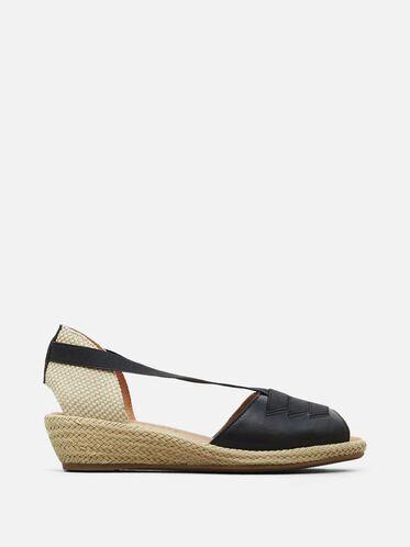 Luci Espadrille Wedge Sandal, BLACK