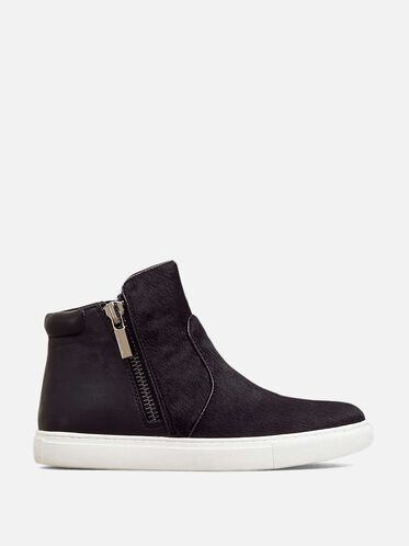 Kiera Mixed Media Sneaker, BLACK