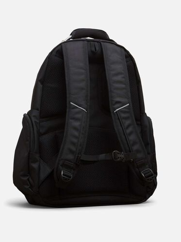 Double Gusset Computer Backpack, BLACK