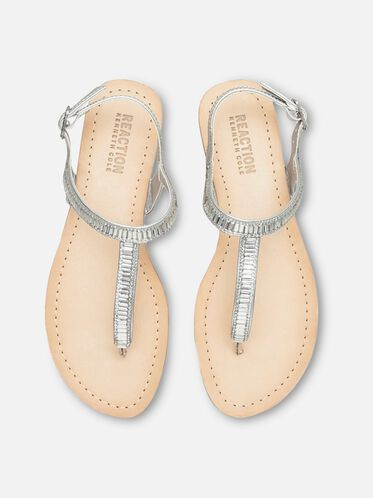 Just a Gal T-Strap Sandal, SILVER