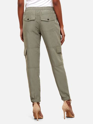 Silky Cargo Jogger Pant, ARMY