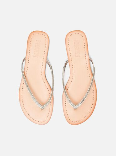 Just Jeweled Sandal, SILVER