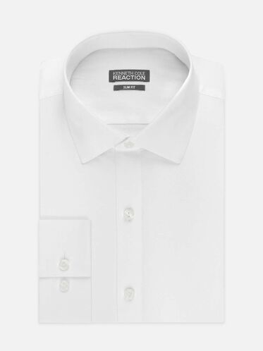 Dry-Tek Slim-Fit Dress Shirt, WHITE