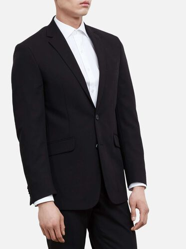 Slim-Fit Notch-Lapel Suit Jacket, BLACK, hi-res