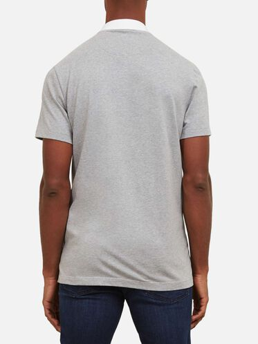 Short-Sleeve Color Block Polo, WHITE