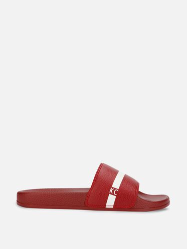 Big Screen Slide Sandal, RED