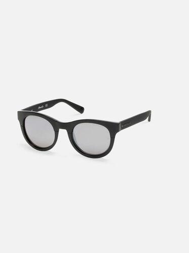 Shiny Black Oversized Sunglasses, SBLK/SMKMR