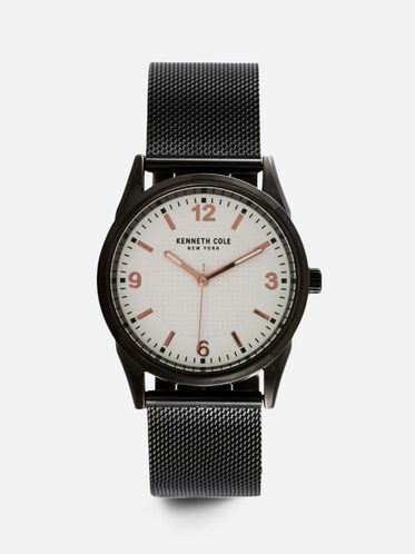 Stainless Steel Mesh Round Watch, NO COLOR