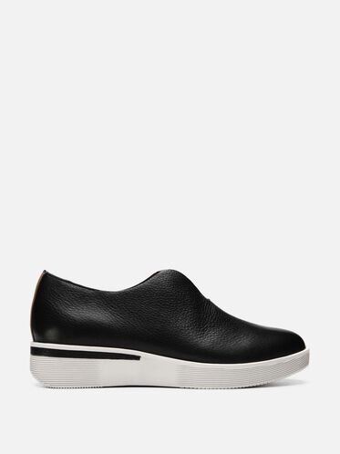 Hanna Leather Slip-on Sneaker, BLACK