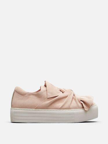 Aaron Suede Platform Sneaker, ROSE