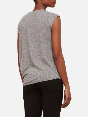 Side Knot Top, GREY HEATHER