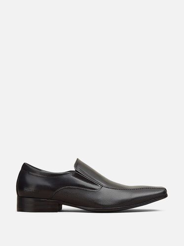 Bro-cabulary Leather Loafer, BLACK