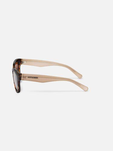 Techni-Cole Black Cateye Sunglasses, SBLK/BRNPZ