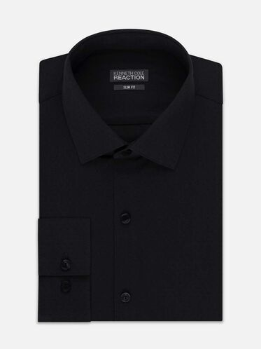 Dry-Tek Slim-Fit Dress Shirt, CHARCOAL