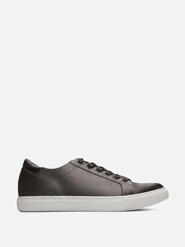 Womens Kam Mixed Materials Sneaker, CHARCOAL