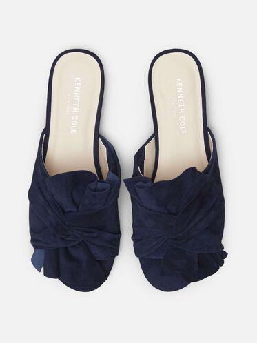 Violet Suede Leather Sandal, MARINE