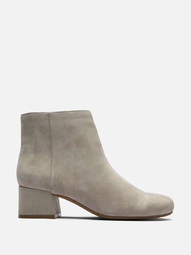 7 Road Stop Suede Ankle Bootie, TAUPE
