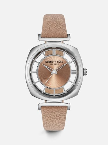 Brown Leather Strap Watch, NO COLOR