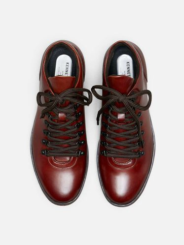Brand Tour Leather Sneaker, MAHOGANY, hi-res