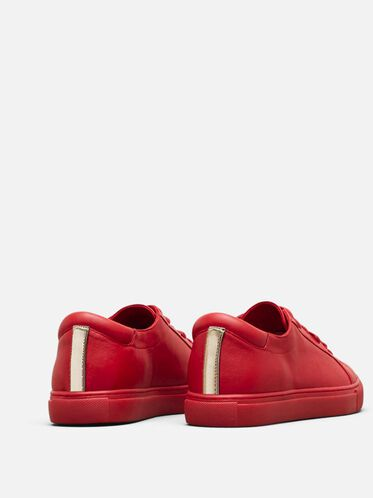 Kam Leather Sneaker, RED, hi-res