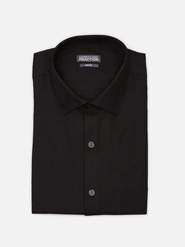 Long Sleeve Slim Fit Dress Shirt, BLACK