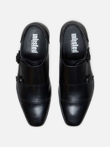 Music Lesson Monk Strap Loafer, BLACK