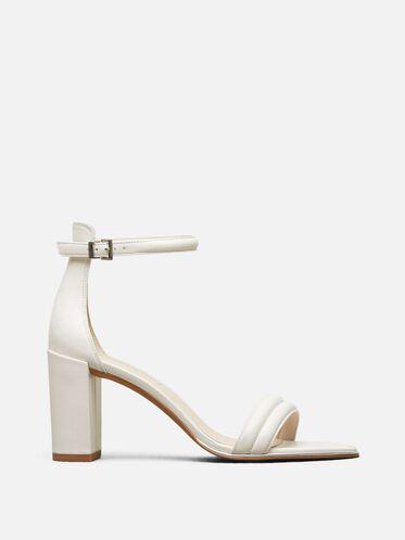 Lex Open-Toe Heel, WHITE