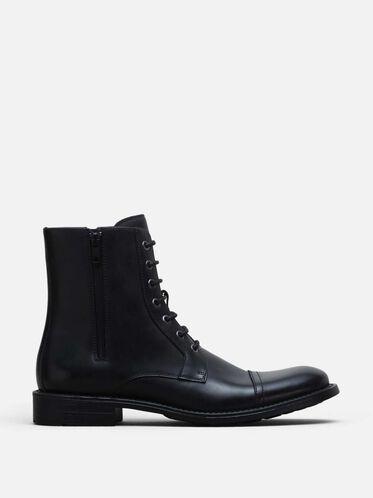 Blind Curve Cap Toe Boot, BLACK