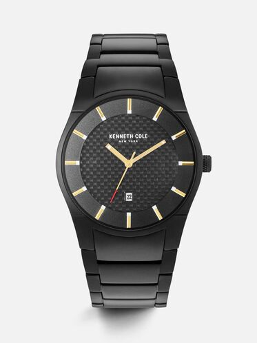 Black Stainless Steel Watch, NO COLOR