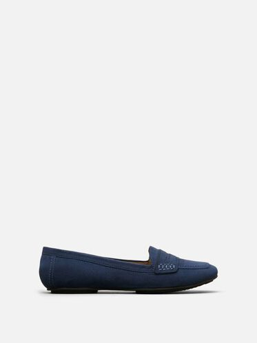 Sweet Trick Suede Flats, NAVY