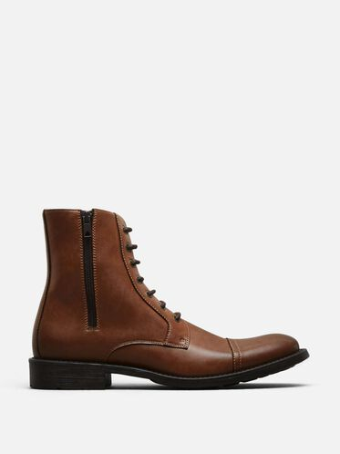 Blind Curve Cap Toe Boot, COGNAC, hi-res