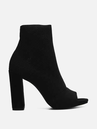 Dahvi Open-Toe Heel, BLACK/BLACK