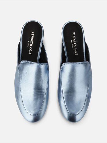 Wallice Metallic Slip-on Loafer, ICE BLUE