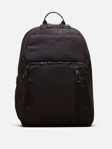 Silky Polyester Double Gusset Backpack, BLACK