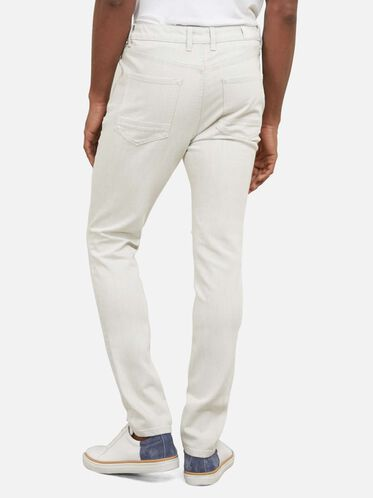 White Weft Skinny Jean, WHITE