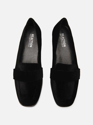 Glide Slide Velvet Loafer, BLACK