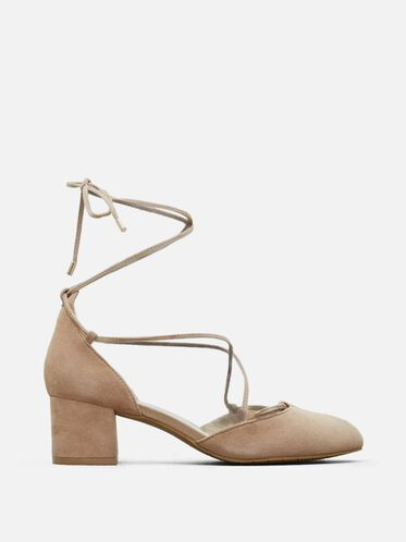 Toniann Suede Block Heel, CAFE, hi-res