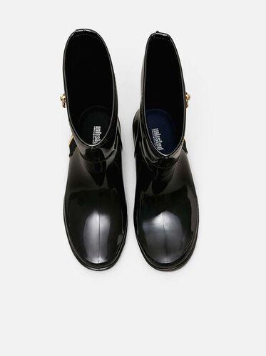 Zip Rain Boots, BLACK