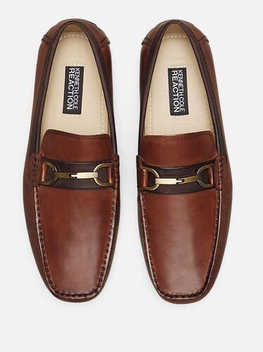 Sound Proof Leather Loafer, COGNAC