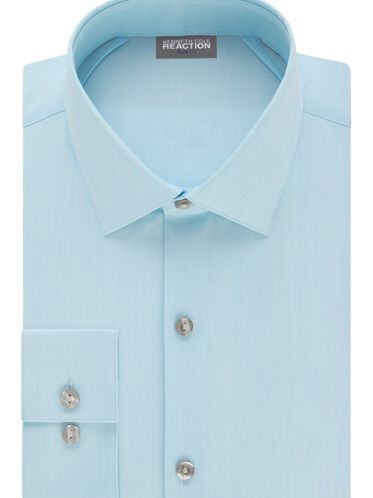 Techni-Cole Slim Fit Solid Dress Shirt, LAKE